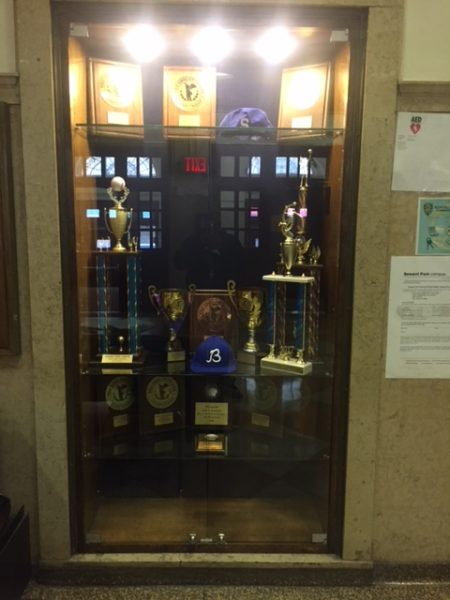 Go Seward!  Proudly displayed near auditorium.
